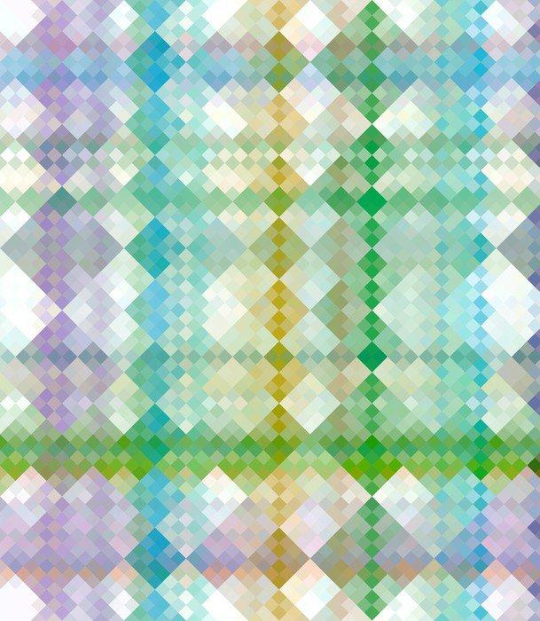 Wall Mural - Vinyl grunge check pattern - Themes