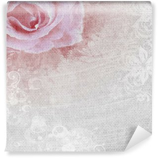 grunge romantic background with rose Wall Mural - Vinyl