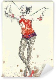 Wall Mural - Vinyl gymnastics and circus topic - hand drawing into vector