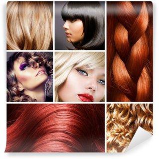 Hair Collage. Hairstyles Wall Mural - Vinyl