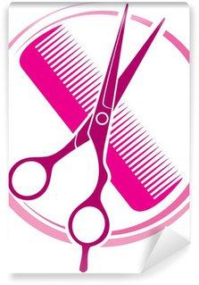 haircut or hair salon symbol Wall Mural - Vinyl