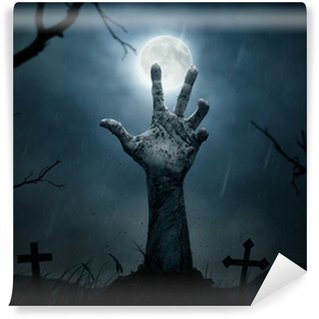 Wall Mural - Vinyl Halloween, dead hand coming out from the soil