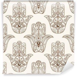 hamsa symbol seamless pattern