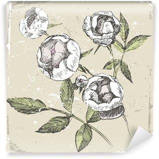 hand drawn roses Wall Mural - Vinyl