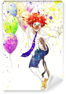 Wall Mural - Vinyl happy clown