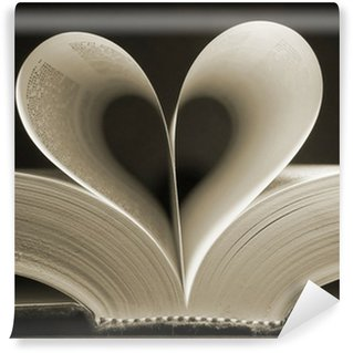 Wall Mural - Vinyl heart shaped book
