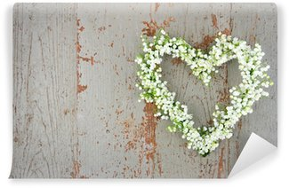 Heart shaped flower wreath of lilys of the valley Wall Mural - Vinyl