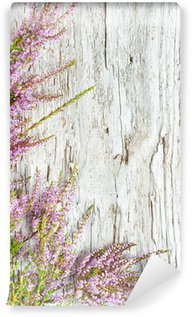 Heather and old wood background Wall Mural - Vinyl