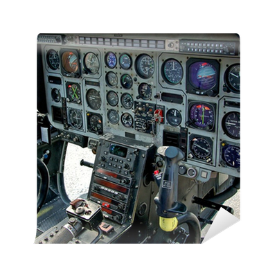 Helicopter cockpit and control panel wall mural pixers for Cockpit wall mural
