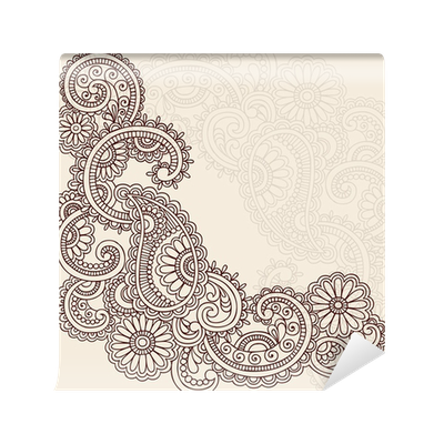 henna abstract doodle mehndi tattoo vector design wall mural pixers we live to change. Black Bedroom Furniture Sets. Home Design Ideas