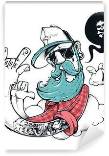 Hipster graffiti illustration Wall Mural - Vinyl