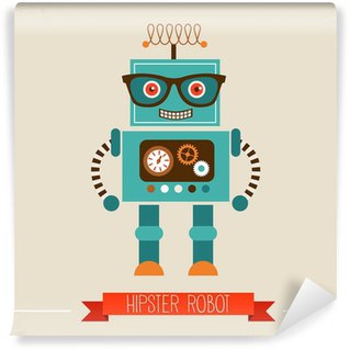 Hipster robot toy icon Wall Mural - Vinyl