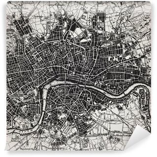 Historical map of London, England. Wall Mural - Vinyl