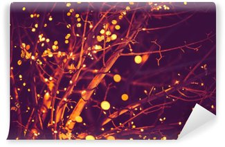 Holiday Lights Background Wall Mural - Vinyl