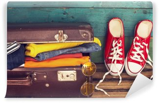 Wall Mural - Vinyl Holiday suitcase