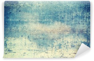Wall Mural - Vinyl Horizontally oriented blue colored grunge background