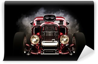 Wall Mural - Vinyl Hotrod with smoke background