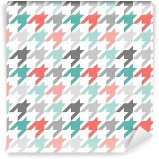Wall Mural - Vinyl Houndstooth seamless pattern, colorful