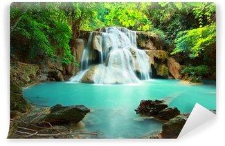 Huay mae kamin waterfall Wall Mural - Vinyl