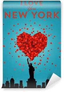 Wall Mural - Vinyl I Love New York Poster