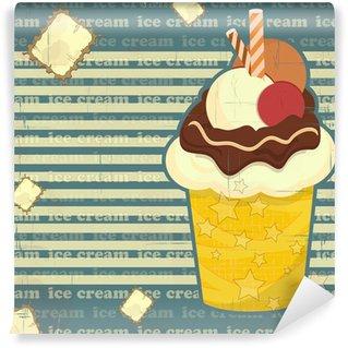 Ice Cream - vintage poster Wall Mural - Vinyl