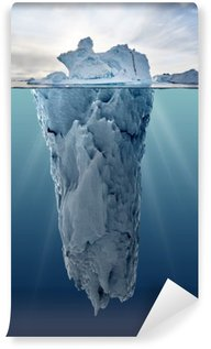 iceberg with underwater view Wall Mural - Vinyl