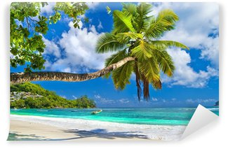 Vinyl Wall Mural idyllic tropical scenery - Seychelles