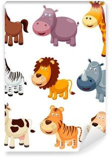 illustration of Animals cartoon Vector Wall Mural - Vinyl
