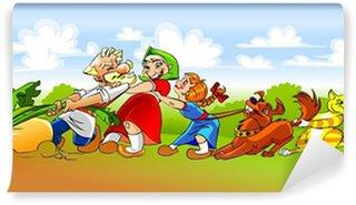 "Wall Mural - Vinyl illustration of the Russian folk fairy tale ""The Turnip"""
