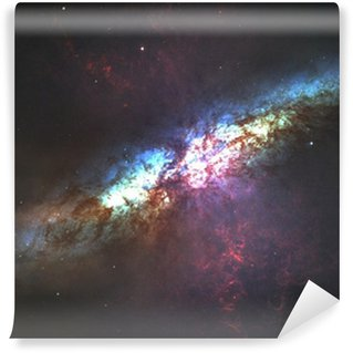 Galaxy Wall Mural incredibly beautiful spiral galaxy somewhere in deep space vinyl