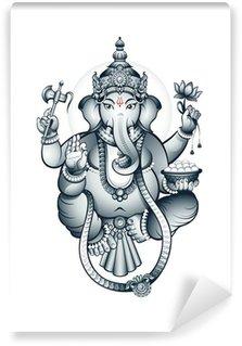 Indian elephant-head God Ganesha Wall Mural - Vinyl
