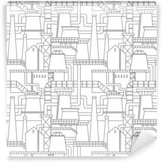 Industrial city pattern Wall Mural - Vinyl