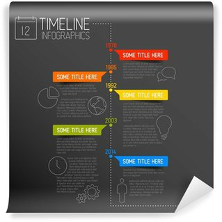 Wall Mural - Vinyl Infographic timeline report template