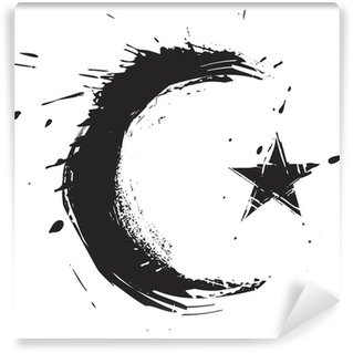 Islamic religion symbol created in grunge style Vinyl Wall Mural