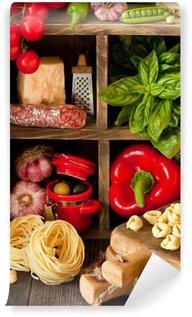 Wall Mural - Vinyl Italian food.