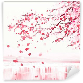 Japanese cherry tree Wall Mural - Vinyl