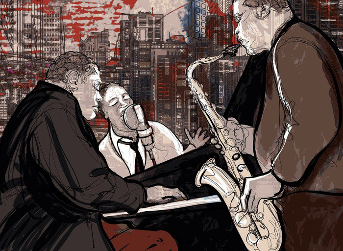 Wall Mural - Vinyl Jazz band - Jazz