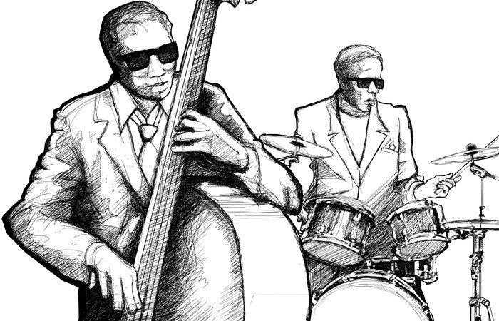 Wall Mural - Vinyl jazz band - Jazz