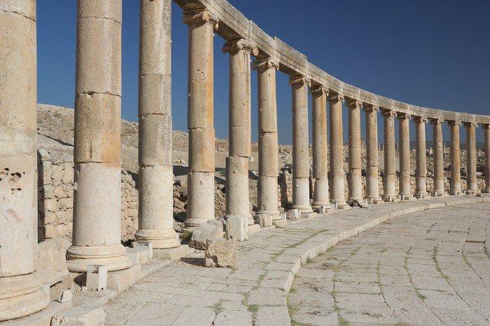Wall Mural - Vinyl Jerash - column - Columns and arches