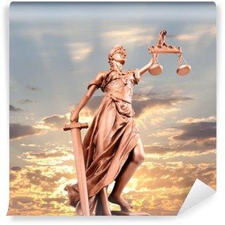 Wall Mural - Vinyl justice statue