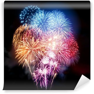 Wall Mural - Vinyl Large Professional Fireworks Display
