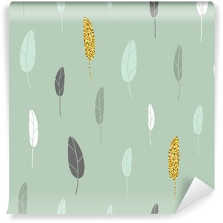 Leaf pattern. Wall Mural - Vinyl