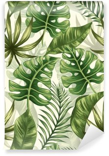 Wall Mural - Vinyl Leaves pattern