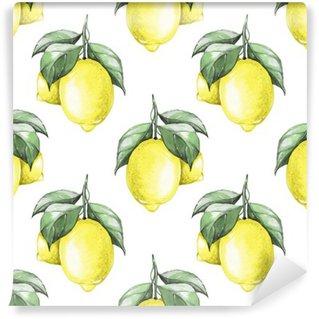 Lemons. Watercolor seamless pattern 1