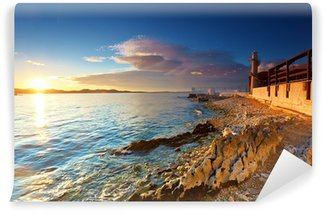 lighthouse in Zadar Wall Mural - Vinyl