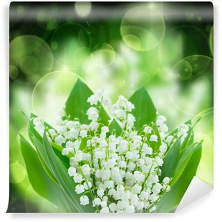 lilly of the valley flowers close up Wall Mural - Vinyl