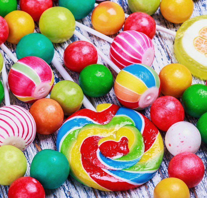 Lollipops and candy wall mural vinyl pixers we live for Candy wall mural