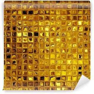 Wall Mural - Vinyl Luxury golden mosaic