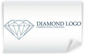 Wall Mural - Vinyl Luxury logo, diamond logotype