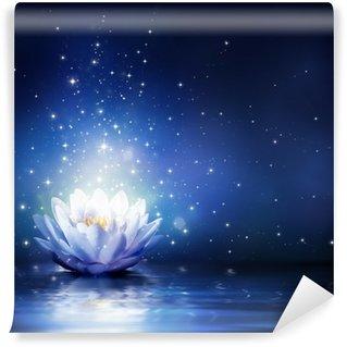 magic flower on water - blue Wall Mural - Vinyl